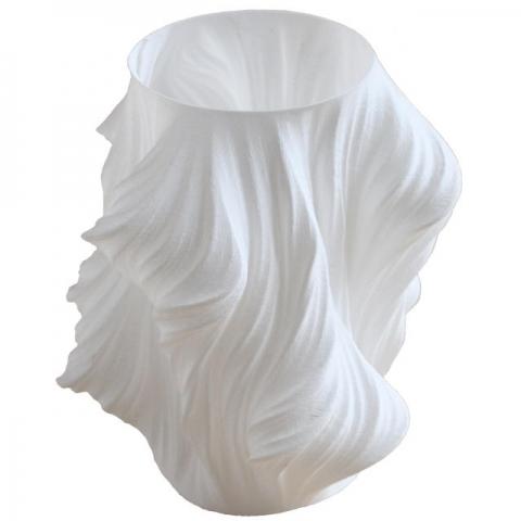 Witte vaas (3D-print)